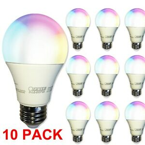 FEIT WIFI SMART BULB 10-PACK * RGB LED Color Changing Tunable White A800