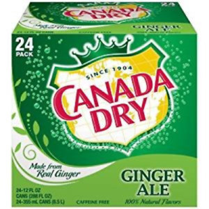 Canada Dry Ginger Ale, 12 Ounce 24 Cans FREE SHIP!