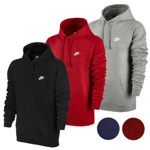 Nike Mens Active Sportswear Long Sleeve Fleece Workout Gym Pullover Hoodie $39.88