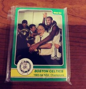 1984 Star Company Boston Celtics 25 Card Championship Set Larry Bird Danny Ainge