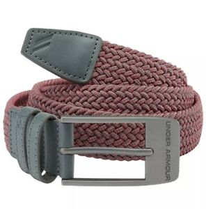 UNDER ARMOUR Tiger Style PGA MENS 2.0 WOVEN STRETCH GOLF BELT Size 36 NEW! $35.00