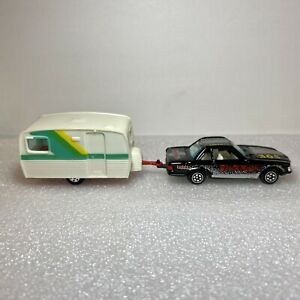 Yatming #1011 Mercedes Benz 350SL & #1386 House (Camping) Trailer