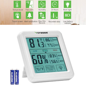 VIVOSUN LCD Digital Indooroutdoor Thermometer and Hygrometer with Humidity Guage