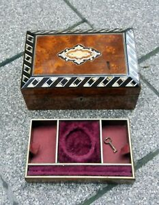 Antique Box for POCKET WATCH Hand Made Wooden Mother of Pearl Inlay $625.00