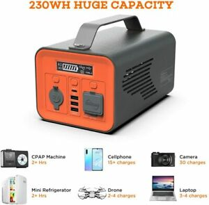 Power Backup Supply Camping Potable Solar Recharged Generator Camp Travel