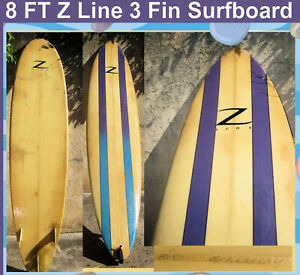 Surfboard Z Line Brand 8' Great Design by Architect Tommy Z