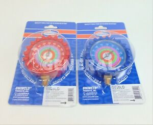 SET OF 2-GAUGE HIGH- & LOW-PRESSURE GAUGES R22 R404A R410A  # G529LD G530LD $29.00