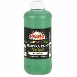 Prang Ready to Use Tempera Paint Green 16 oz Squeeze Bottle DIX21604
