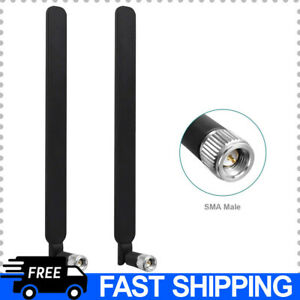 WiFi 4G LTE Antenna with SMA Male Connector 9dBi Dual Band Omnidirectional $14.11
