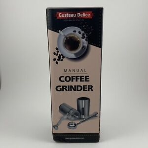 Manual Coffee Grinder By Gusteau Delice 304 Stainless Steel Versatile Hand Mill