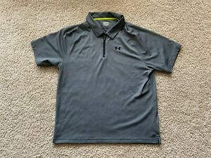 Under Armour performance 1 4 zip golf polo shirt fitted XL $5.50