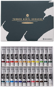 Turner acrylic gouache 24 colors set school japan import by Turner color $45.70
