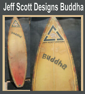 Surfboard Jeff Scott Designs Buddha Santa Cruz Vintage Found in San Diego 3 Fin