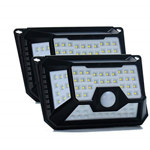 Aothia New Upgraded Solar Lights Outdoor, Wireless 66LED Lights of 4 Sides with