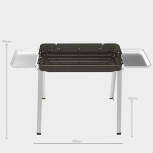 Portable Stainless Steel Grill BBQ Barbecue Shelf Foldable Charcoal Camping BBQ