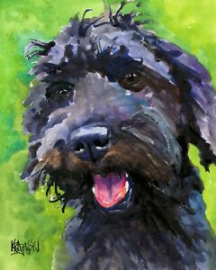 Schnoodle Art Print from Painting Gifts Poster Picture Wall Art Mom 8x10 $17.50