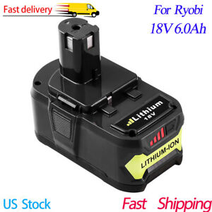 High Capacity 6.0Ah 18 Volt P108 for RYOBI 18V ONE+ PLUS Lithium-Ion Battery New