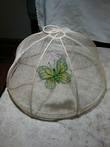 SET OF 3 FOOD COVERS/MESH DOME FOR FOOD PLATES AND OUTDOOR PICNIC ITEMS
