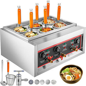 Electric Pasta Cooking Machine 6 Holes with Baskets 6KW Noodles Cooker 220V