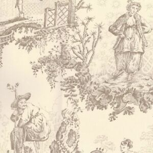 4 Dbl Rolls Scalamandre Chinoiserie Wallpaper Lewisamp;Wood Toile Ret $5456