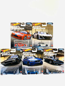 2020 Hot Wheels Fast and Furious Full Force Set of 5 Cars 1 64 Diecast