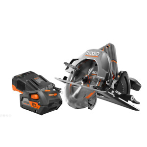 New Ridgid 18V Cordless Circular Saw Lithium-Ion 7-14 Inch Battery and Charger  $187.12