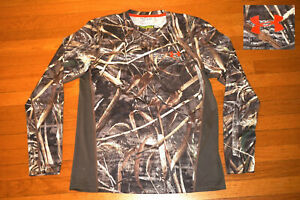 Under Armour Heatgear Realtree MAX 5 Shirt Camo L.S Scent Control Loose Fit M wm $16.99
