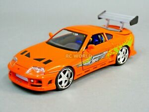 1 24 DieCast TOYOTA SUPRA TURBO Fast & Furious Model Car