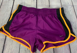 Nike Womens Dri Fit Tempo Running Shorts w Liner Purple orange Size M $15.99