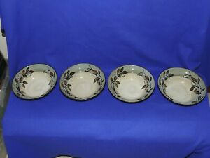 4 Pfaltzgraff Rustic Leaves Soup/Cereal Bowls 8-3/8