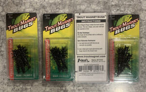 4 Packs Trout Magnet Bugs Small Hellgrammite Jigs Black