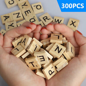 SCRABBLE WOOD TILES 400Pieces Full Sets Letters Wooden Replacement Pick $6.48