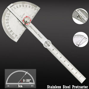 0-180° Stainless Steel Protractor Angle Finder Ruler for Construction Woodwork $5.99