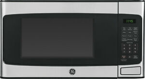 Open-Box Excellent: GE - 1.1 Cu. Ft. Mid-Size Microwave - Stainless steel