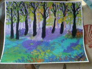 THE FOREST Original Acrylic Painting By DONATA 11X14