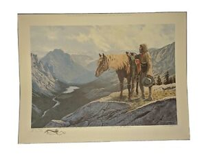 David Wright quot;Lure Of The Mountainsquot; Hand Signed Remarqued Artist Proof 9 100 $799.99