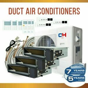 Tri 3 Zone 180001800018000 Slim Duct Mini Split Air Conditioner Heat Pump Kit