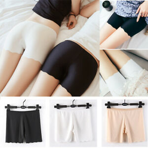 Lady Under Shorts Safety Pants Ice Silk Seamless Leggings Underwear Stretch Thin $9.49