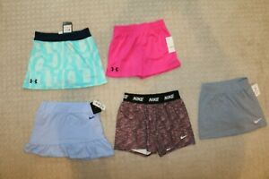 Girls Under Armour & Nike Shorts & Skorts Lot of 5 new Size 6, 6X $27.99