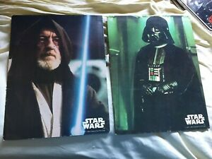 2 1977 Vintage Star Wars Mead School Folders Obi Wan Vader pink Storm Troopers $19.95