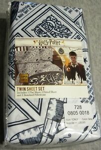 Harry Potter Quidditch 3 Pc Twin Sheet Set  NEW!