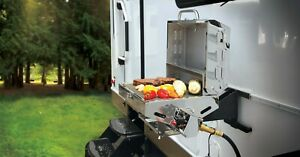 Camper Bumper Grill Camping Tailgating Gas Propane Cooking Surface Stainless Stl