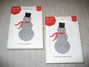 Target Green Inspired Houndstooth Snowman Warm Holiday Wishes Christmas Cards