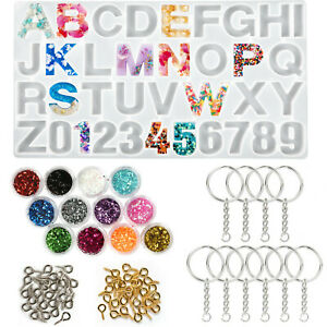 Alphabet Resin Silicone Molds Letter Number for Epoxy Molds DIY Making Keychain $9.99