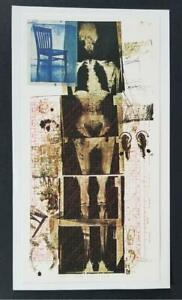 Robert Rauschenberg quot;Boosterquot; Mounted Color offset Lithograph 1973 $39.00