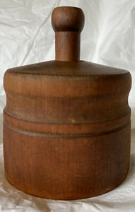 Vintage Wood Butter Mold and Press with unique pattern $69.95
