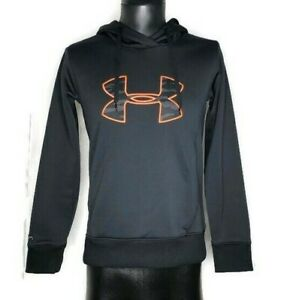 UNDER ARMOUR Storm semi fitted Cold Gear Hoodie Sweatshirt pink camo black sz S $19.88
