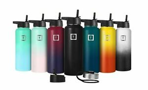 IRON °FLASK 22 Oz to 64 Oz Vacuum Insulated Stainless Steel Sport Water Bottle