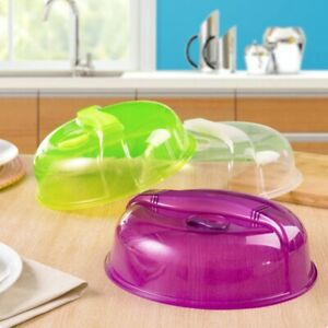 US Microwave Plate Cover Steam Vent Lid Dish Food Splatter For Home Kitchen Tool