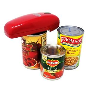 As Seen On TV Red Handy Can Opener Automatic One Touch Electric Can Opener